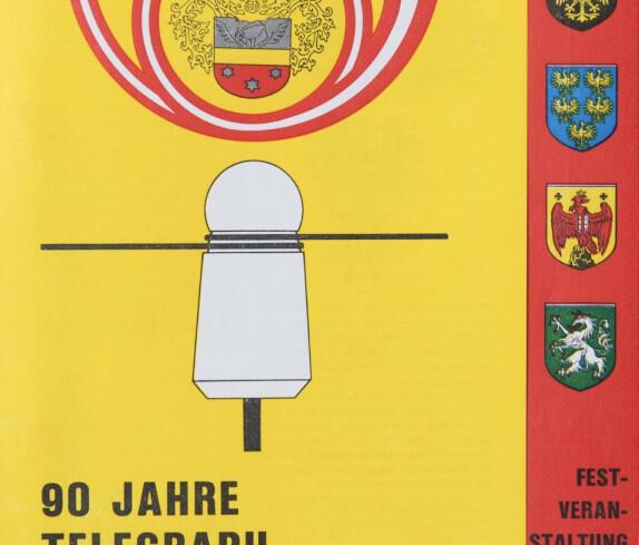 90 Jahre Telegraph in Stegersbach, Festveranstaltung am 21. Juli 1974, Seite 1